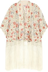 Talitha Prairie Embroidered Silk Georgette Jacket White