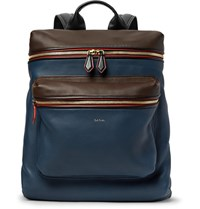 Paul Smith Colour Block Leather Backpack Storm Blue