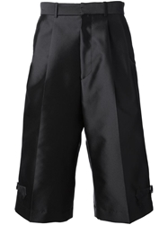 Alexander Mcqueen Wide Leg Shorts Black