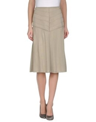 Ralph Lauren Black Label Knee Length Skirts Sand