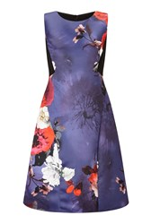 James Lakeland Floral Print Sleeveless Dress Navy