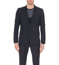 J. Lindeberg Slim Fit Wool Jacket Dk Blue