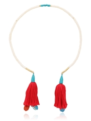 Aurelie Bidermann Sioux Necklace White Coral