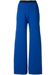 Simon Miller Cropped Flared Trousers Blue