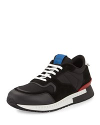 Givenchy Active Textile And Suede Running Sneaker Black