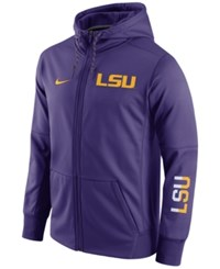 Nike Men's Lsu Tigers Circuit Full Zip Hoodie Purple