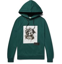 Public School Ervice Oversized Printed Cotton Scuba Jersey Hoodie Petrol