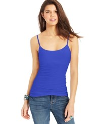 Planet Gold Juniors' Spaghetti Strap Tank Top Board Blue