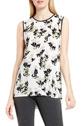 Vince Camuto Women's 'Leaf Trio' Chiffon Overlay Print Sleeveless Blouse