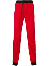 Andrea Crews Side Striped Track Pants Red