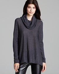 Alice Olivia Sweater Draped Cowl Wool Cashmere Charcoal