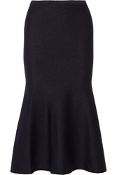 Victoria Beckham Fluted Knitted Midi Skirt