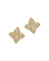 Bloomingdale's Diamond Clover Stud Earrings In 14K Yellow Gold 0.30 Ct. T.W. 100 Exclusive White Gold