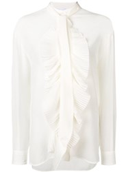 Givenchy Frilled Blouse White