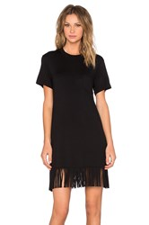 Fifteen Twenty Fringe T Shirt Dress Black