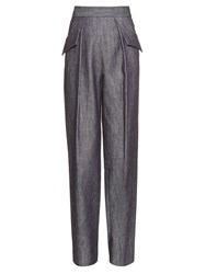 Adam By Adam Lippes Straight Leg Cotton Twill Trousers
