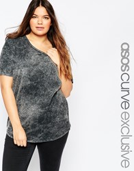 Asos Curve Oversized T Shirt In Acid Wash Acidwash