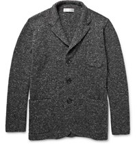 Brunello Cucinelli Melange Virgin Wool Blend Cardigan Dark Gray