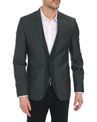 Ikks Medium Grey Two Tone Jacket