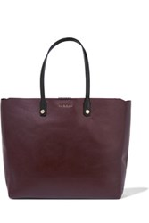Sandro Adela Large Leather Tote Burgundy