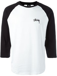 Stussy Three Quarter Sleeve T Shirt White