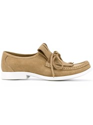 Lathbridge By Patrick Cox Chunky Sole Penny Loafers Nude Neutrals