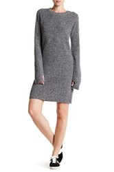 Current Elliott The Easy Sweater Wool And Cashmere Blend Sweater Dress Gray