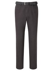 John Lewis Semi Formal Cotton Trousers With Belt Grey