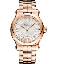 Chopard Happy Sport Medium Automatic 18Ct Rose Gold And Diamond Watch