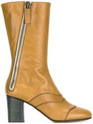 Chloe 'Lexie' Mid Calf Boots Brown