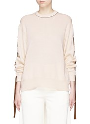 Toga Archives Contrast Tape Open Back Sweater Neutral