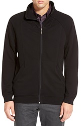 Calibrate Zip Front French Terry Jacket Black Caviar