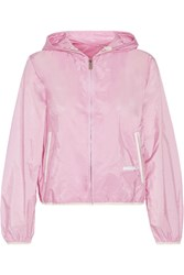 Prada Hooded Shell Jacket Baby Pink