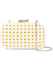 Corto Moltedo Susan C Star Clutch Bag White