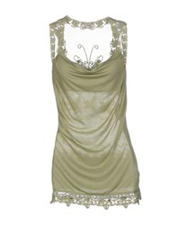 Fracomina Topwear Vests Women Military Green
