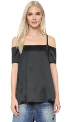 Edit Trapeze Off Shoulder Top Black