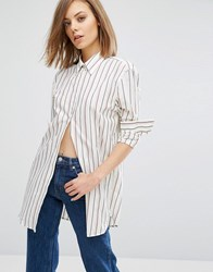 Wood Wood Frankie Stripe Arm Shirt Multi Stripe White