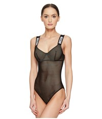 Moschino Fashion Mesh Bodysuit Black Women's Jumpsuit And Rompers One Piece