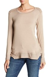 Sweet Romeo Long Sleeve Thermal Tee Beige