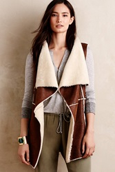 Hei Hei Draped Sherpa Vest Brown