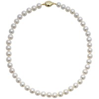 A B Davis Lustre Freshwater Cultured Pearl Necklace White
