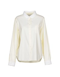 Maison Kitsune Shirts Light Yellow