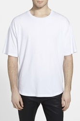 The Narrows Oversize Side Zip T Shirt White