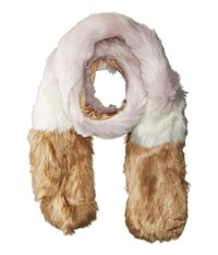 Hat Attack Faux Fur Scarf Blush Scarves Pink
