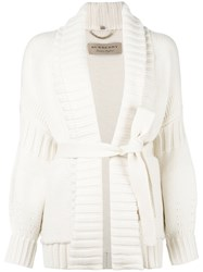 Burberry Belted Cardigan Nude Neutrals