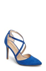 Athena Alexander Women's Monett Strappy Pump Blue Suede
