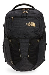 The North Face 'Recon' Backpack Black Tnf Black 24K Gold