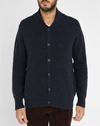 A.P.C. Navy Waves Button Up Cardigan