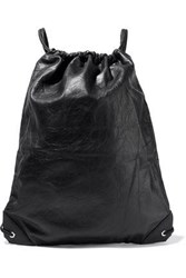 Alexander Wang Crinkled Leather Backpack Black