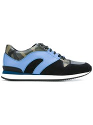 Christian Dior Homme Panelled Sneakers Blue